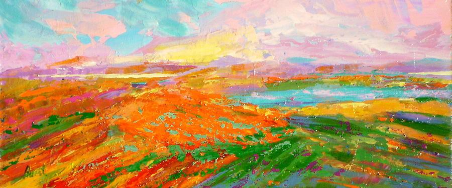 Landscape Painting - Heartland Series/ Vineyards by Marilyn Hurst