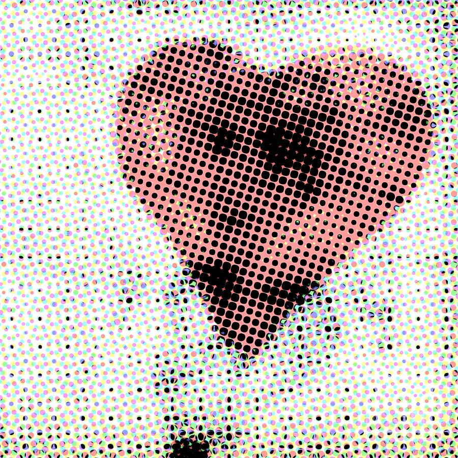Abstract Photograph - Hearts 21 Square by Edward Fielding