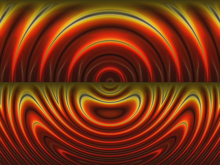 Abstract Digital Art - Heat Of The Moment by Wendy J St Christopher
