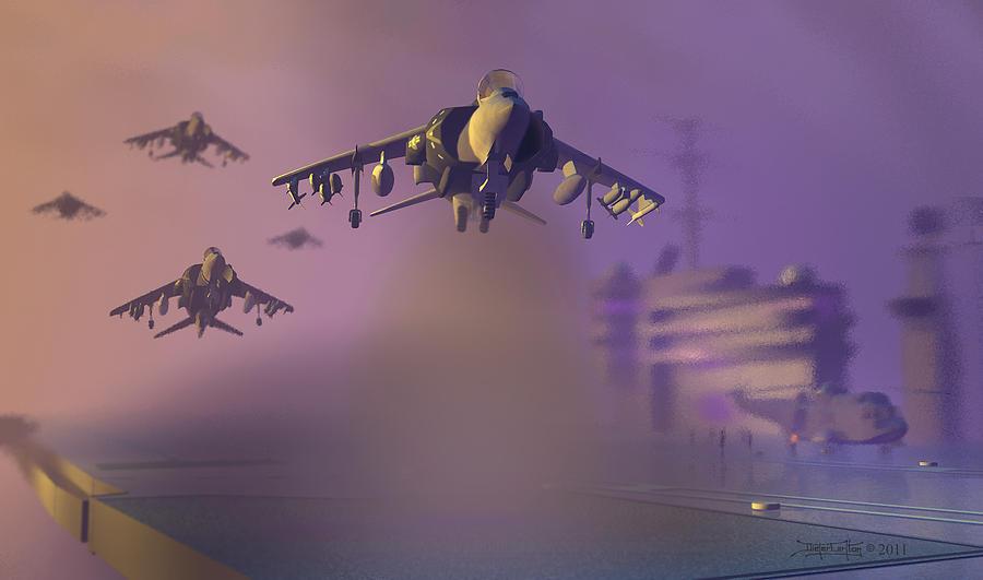 Harrier Jump Jet Digital Art - Heat Wave by Dieter Carlton