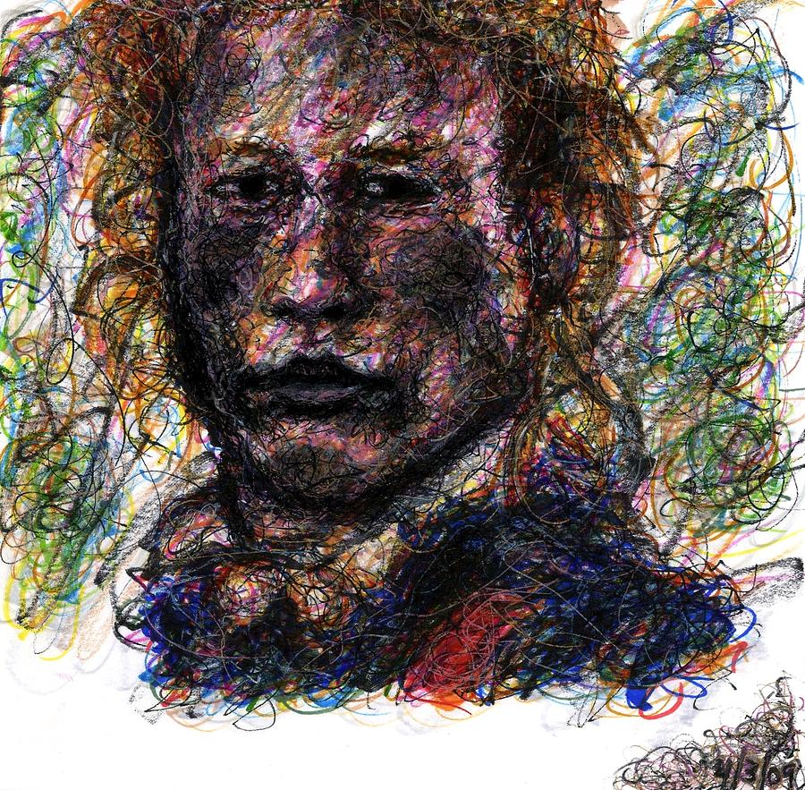 Heath Ledger Drawing - Heath Ledger As Gabriel Martin - The Patriot by Rachel Scott