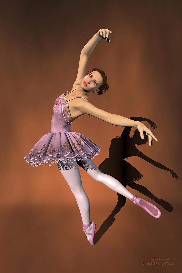 Prima Ballerina Digital Art - Heaven - Ballerina Portrait by Alfred Price
