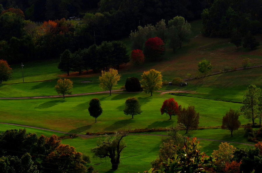 Golf Course Photograph - Heaven Below Tiny Trees by Stephen Melcher