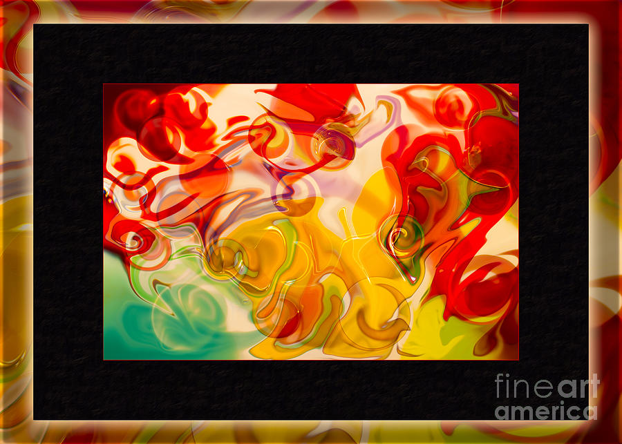 5x7 Painting - Heaven Conquers Hell An Abstract Adventure by Omaste Witkowski