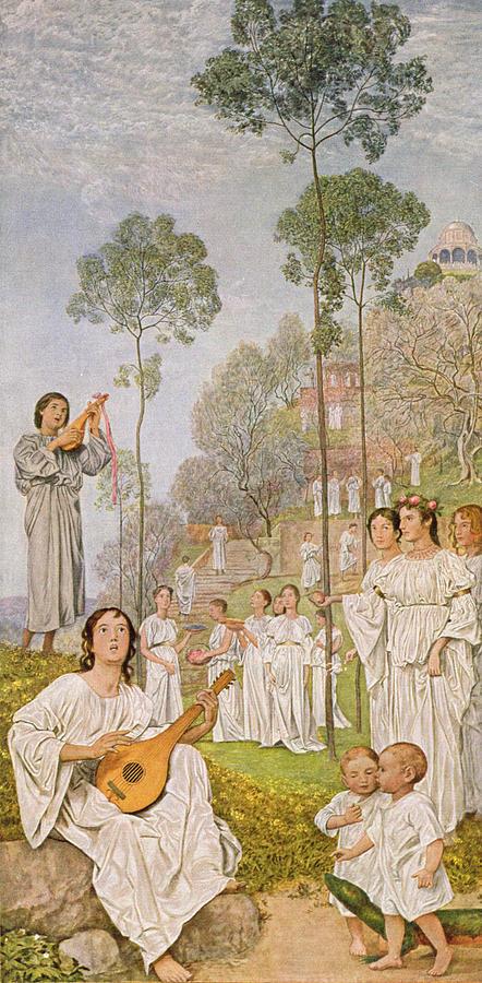 Thoma Painting - Heaven by Hans Thoma