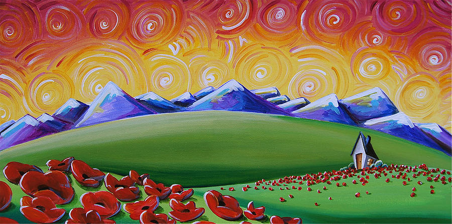 Poppies Painting - Heaven On Earth by Cindy Thornton