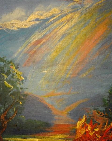 Painting Painting - Heaven On Earth by Patricia Kimsey Bollinger