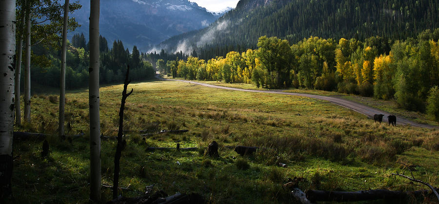 Mountains Photograph - Heaven on earth with a touch of hamburger by Mike  Bennett