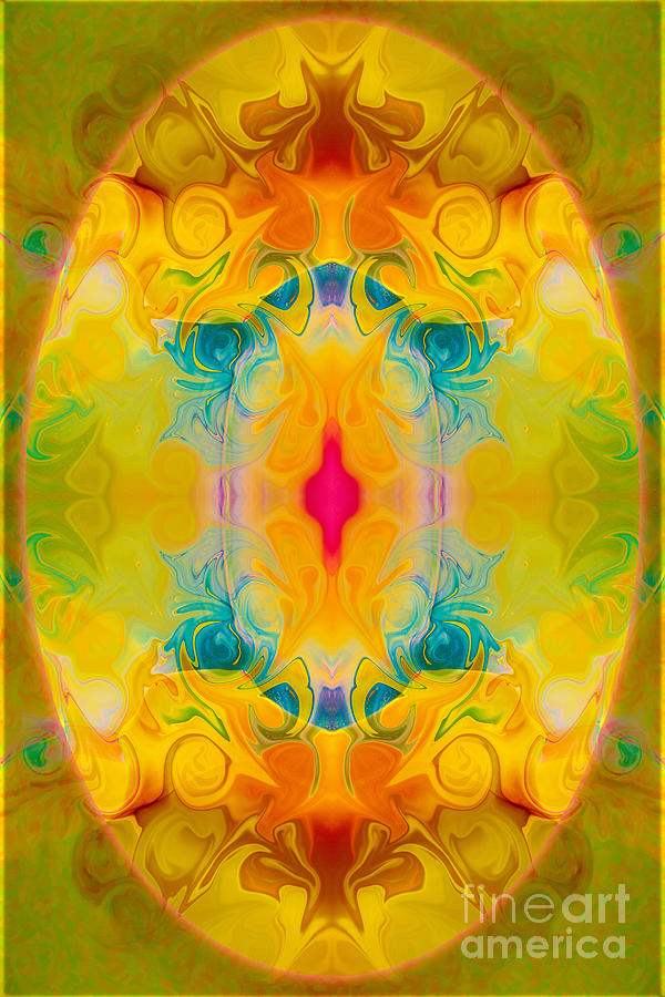 Abstract Digital Art - Heavenly Bliss Abstract Healing Artwork By Omaste Witkowski  by Omaste Witkowski