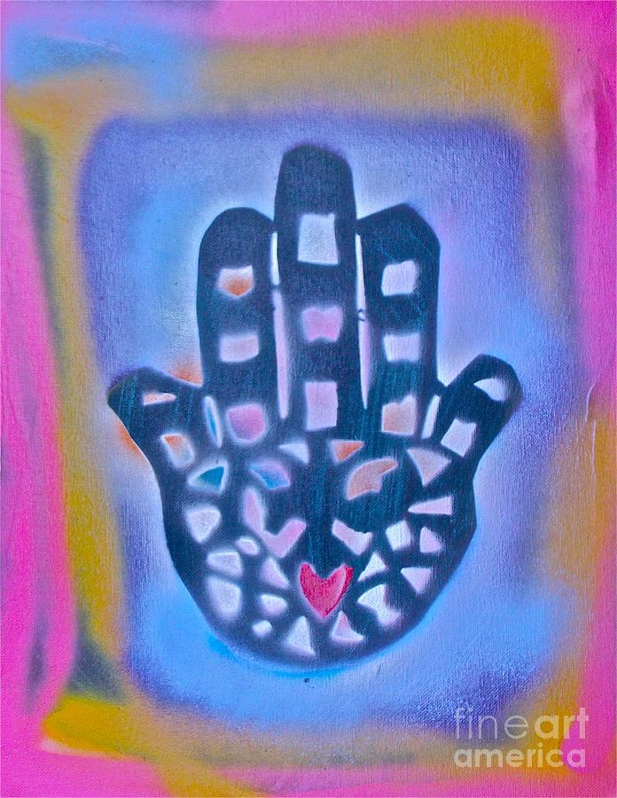 Graffiti Painting - Heavenly Hamza 1 by Tony B Conscious