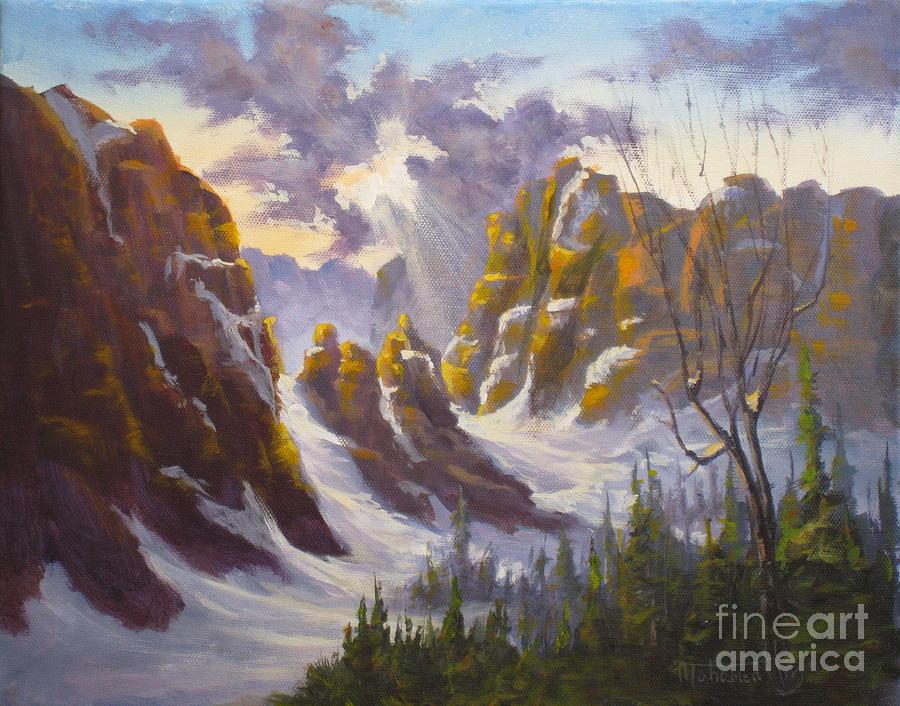 America Painting - Heavenly Light by Mohamed Hirji