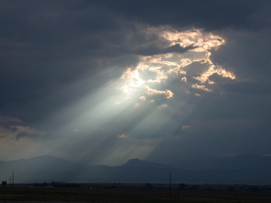 Heavenly Rays Photograph by Shane Bechler