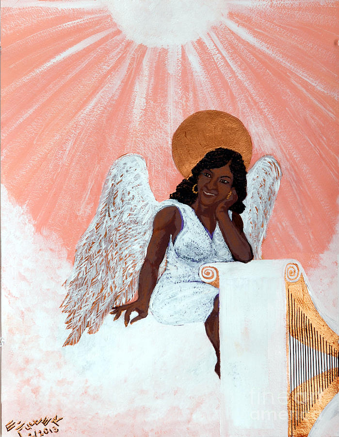 Angel Painting - Heavenly Soul by Edward Fuller