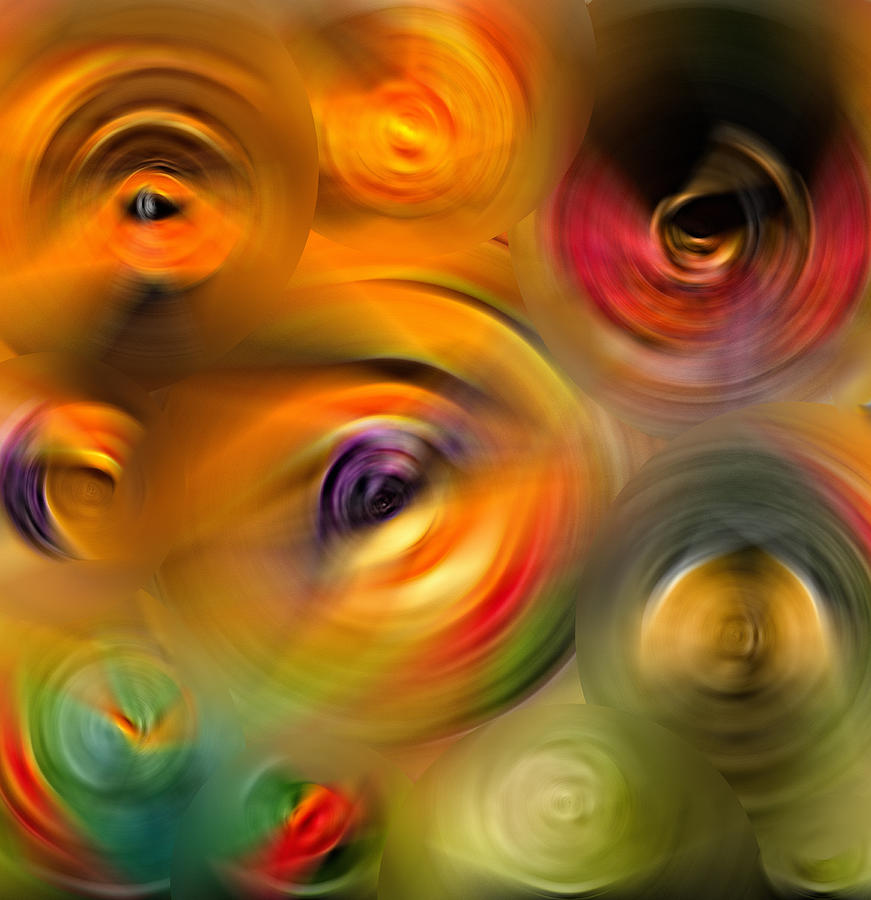 Heaven Painting - Heavens Eyes - Abstract Art By Sharon Cummings by Sharon Cummings