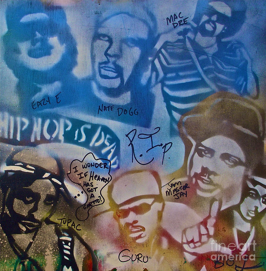 Hip Hop Painting - Heavens Ghetto 2 by Tony B Conscious
