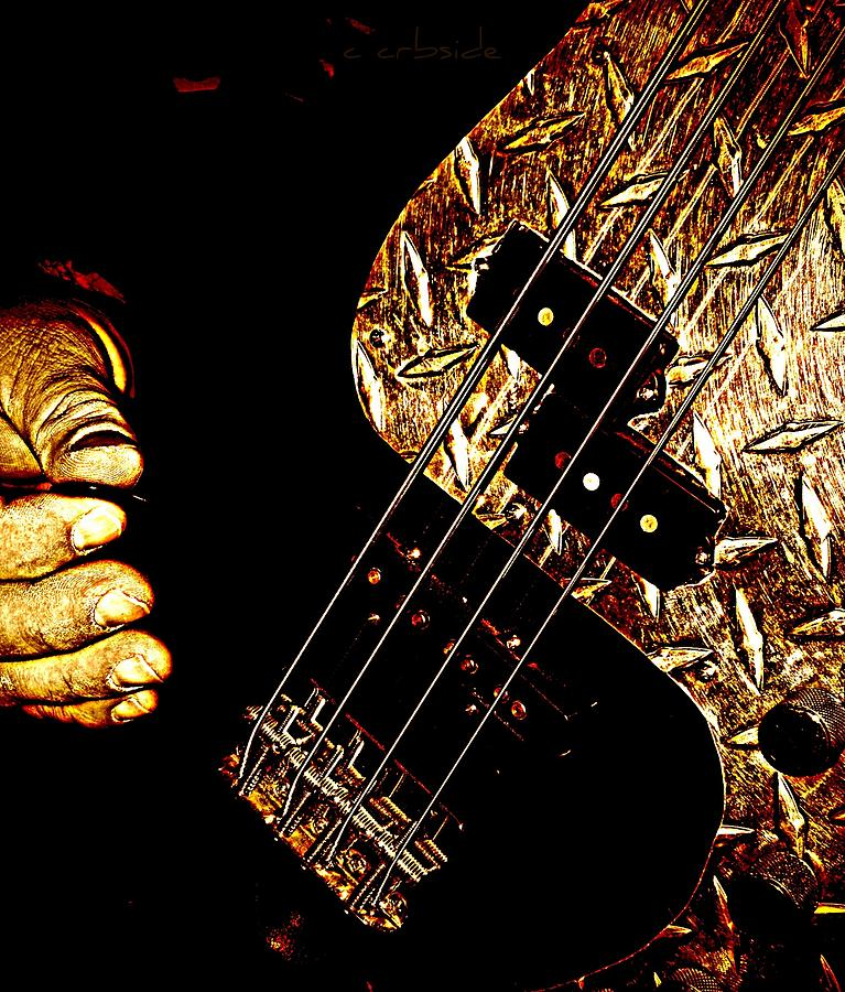 Music Photograph - Heavy Metal Bass by Chris Berry