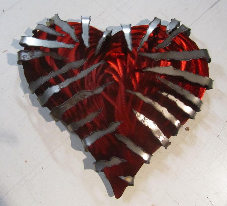 Heavy Metal Heart sculpture Sculpture by Robert Blackwell
