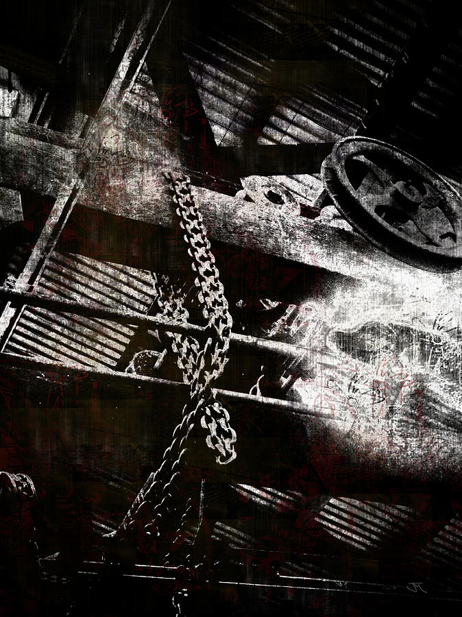 Chains Digital Art - Heavy Metal by John Monteath