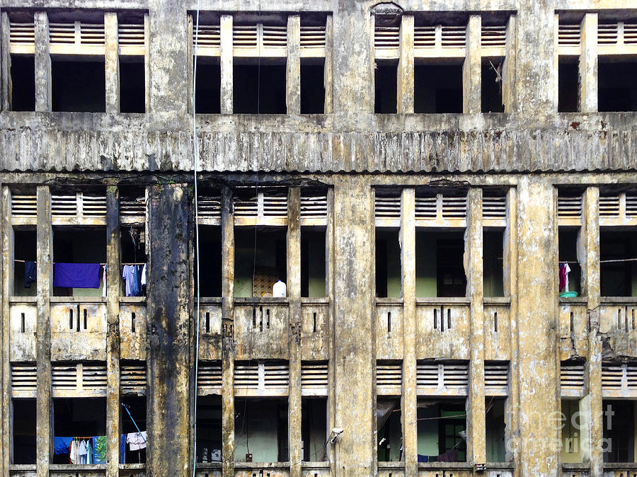 Facade Photograph - Heavy Pollution Takes Its Toll On Buildings Sule Pagoda Road Yangon Burma by PIXELS  XPOSED Ralph A Ledergerber Photography