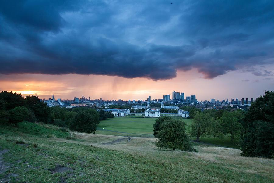 Nightscape Photograph - Heavy Rains Over London by Wayne Molyneux