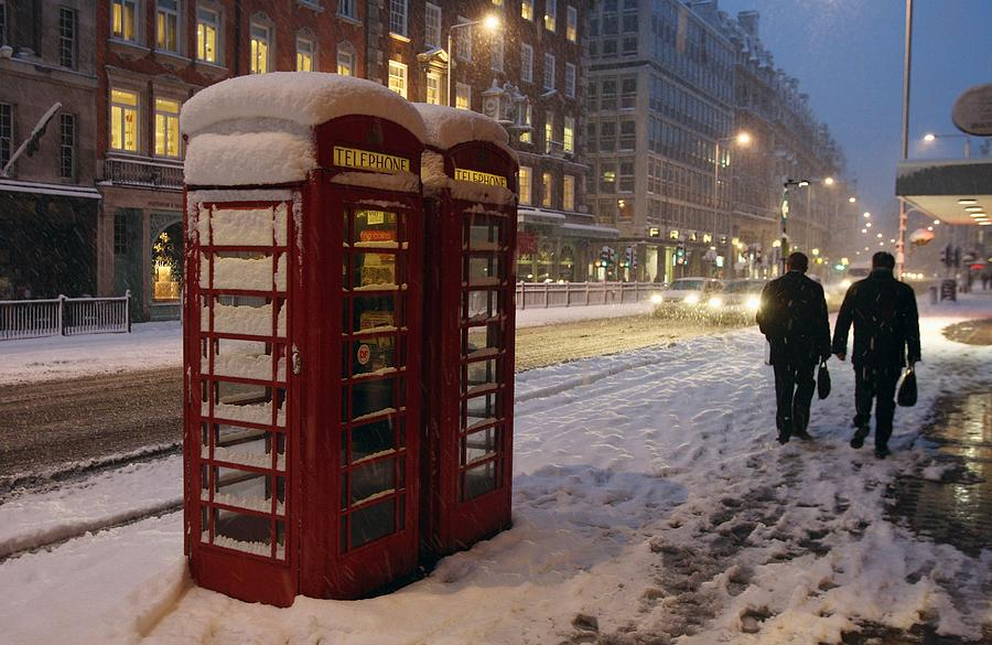 Heavy Snow Falls Across United Kingdom Photograph by Gareth Cattermole