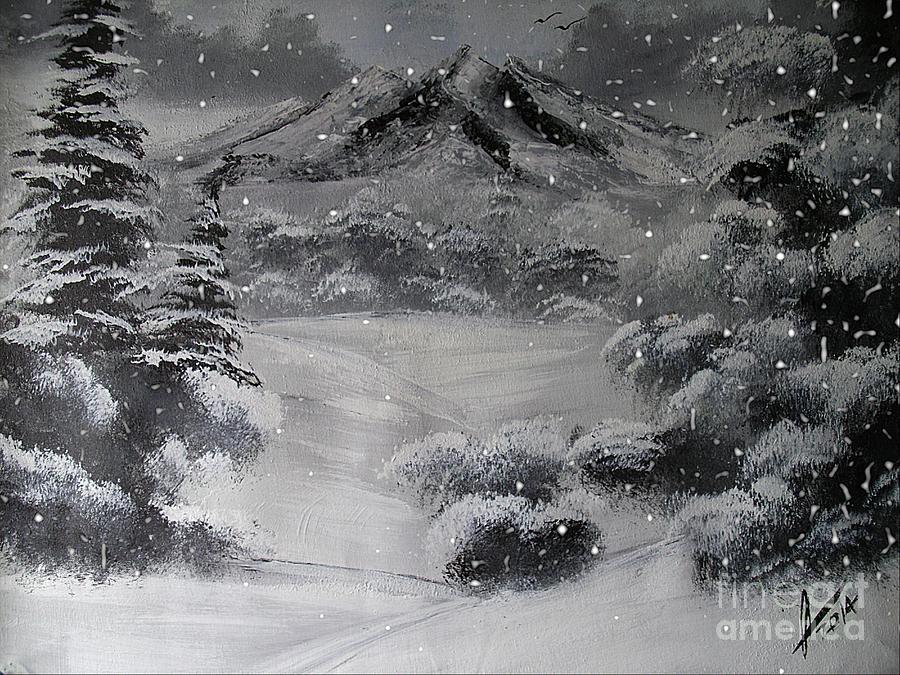 Collin Clarke Painting - Heavy Snowfall by Collin A Clarke