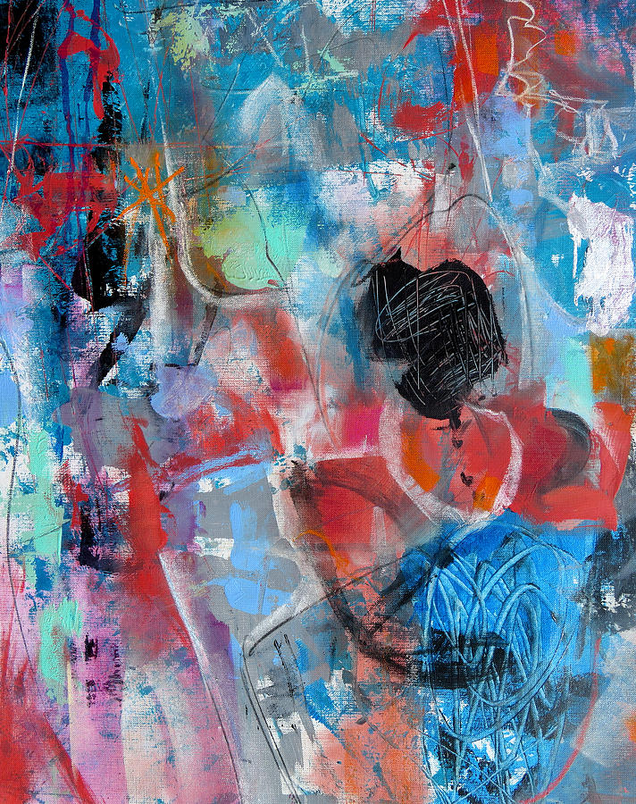 Katie Black Painting - Hectic by Katie Black