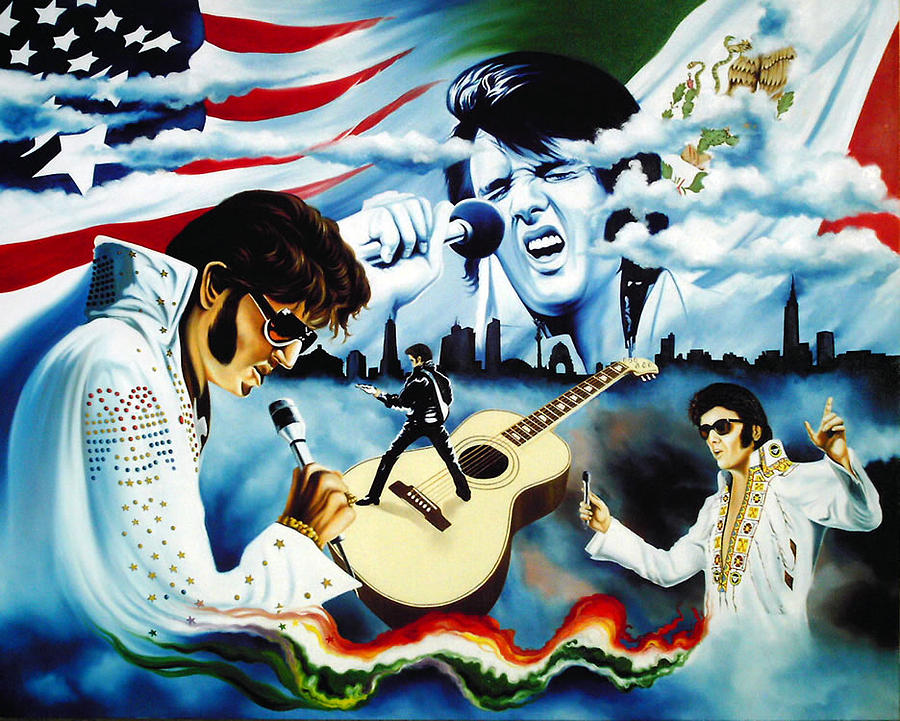 Hector Ortiz Mexican Elvis Presley Tribute Painting By