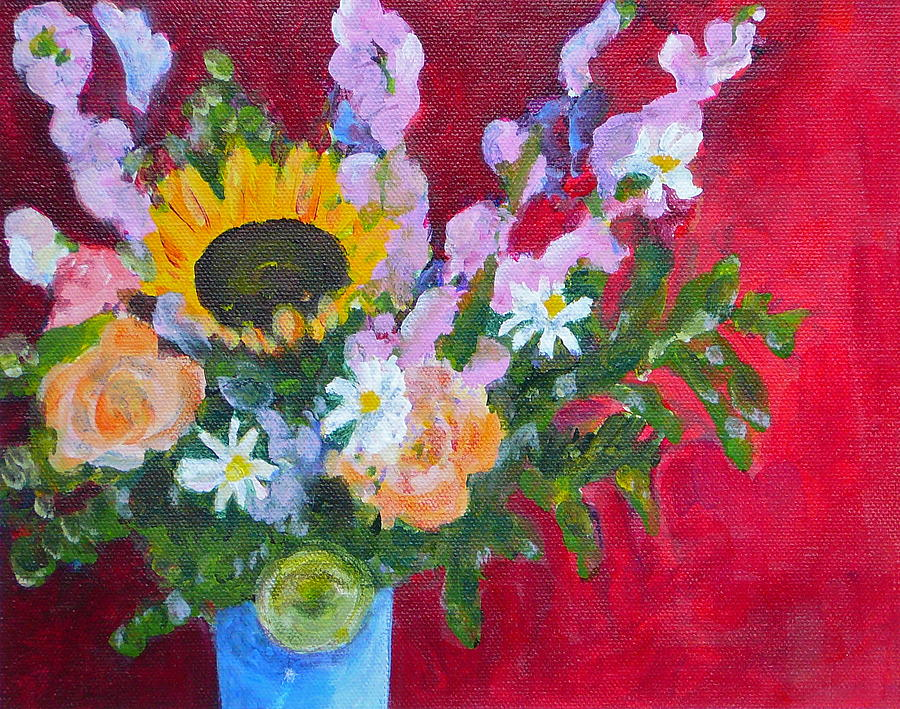 Bouquet Painting - Hed Dance For You by Valerie Lynch