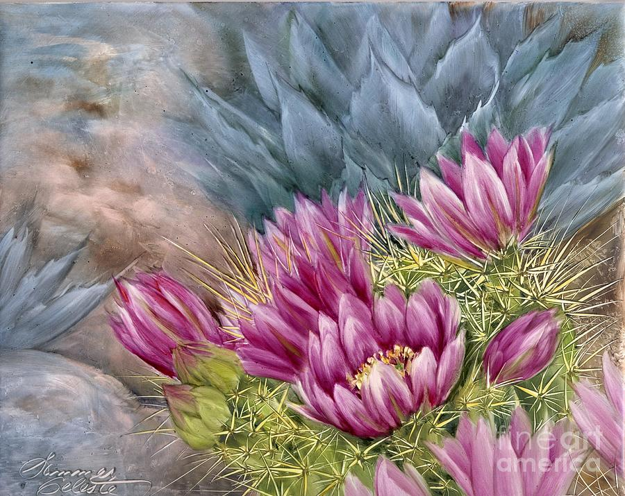 Cactus Painting - Hedgehog In Bloom by Summer Celeste