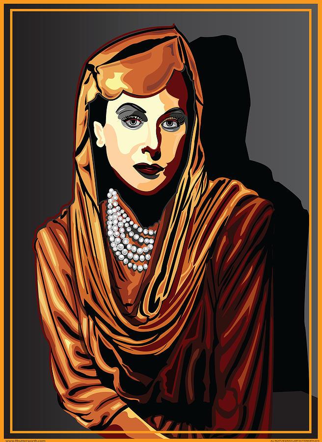 Hedy Lamarr Digital Art - Hedy Lamarr  Hollywood The Golden Age by Larry Butterworth