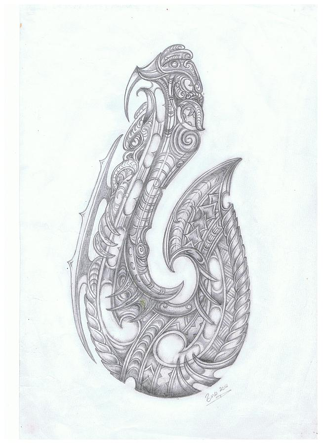 This is an image of Refreshing Fishing Hook Drawing