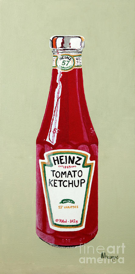 Heinz Painting - Heinz Ketchup by Alacoque Doyle