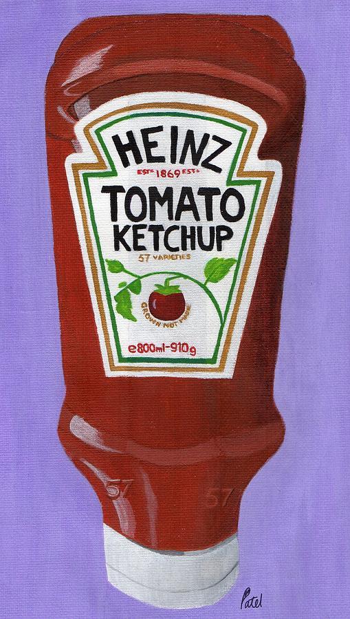 Heinz Painting - Heinz Tomato Ketchup by Bav Patel