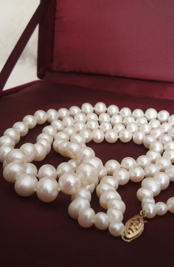 Estate Photograph - Heirloom Pearls by Pixel Productions
