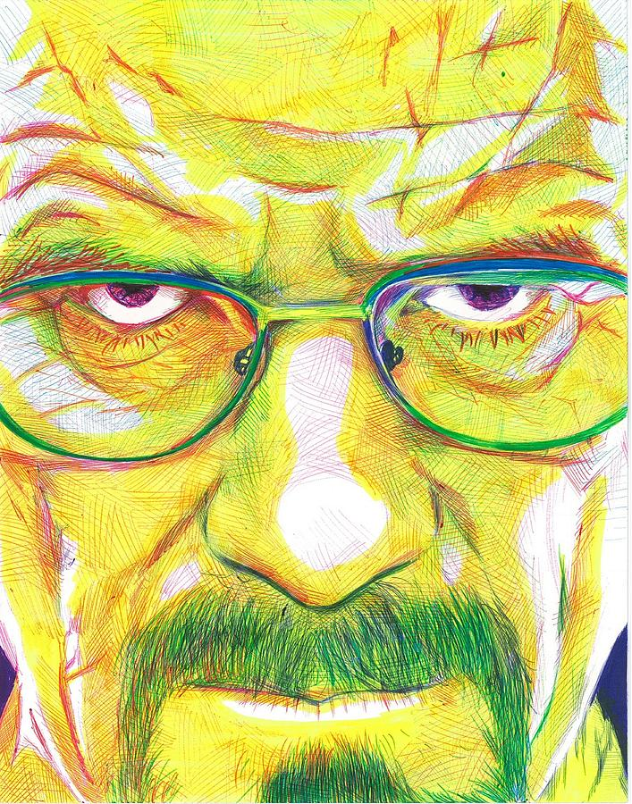 Walter White Drawing - Heisenberg by Kyle Willis