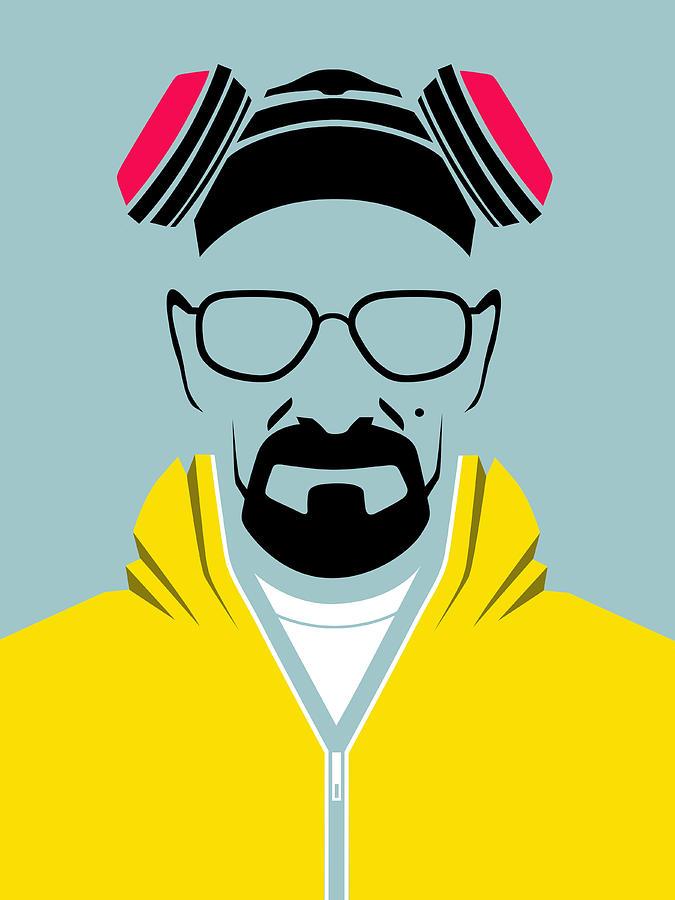Breaking Bad Digital Art - Heisenberg Poster by Naxart Studio