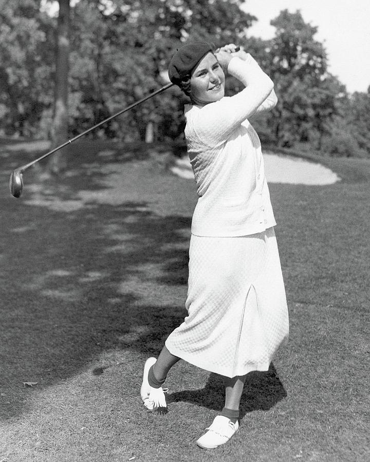 Helen Hicks Playing Golf Photograph by Acme