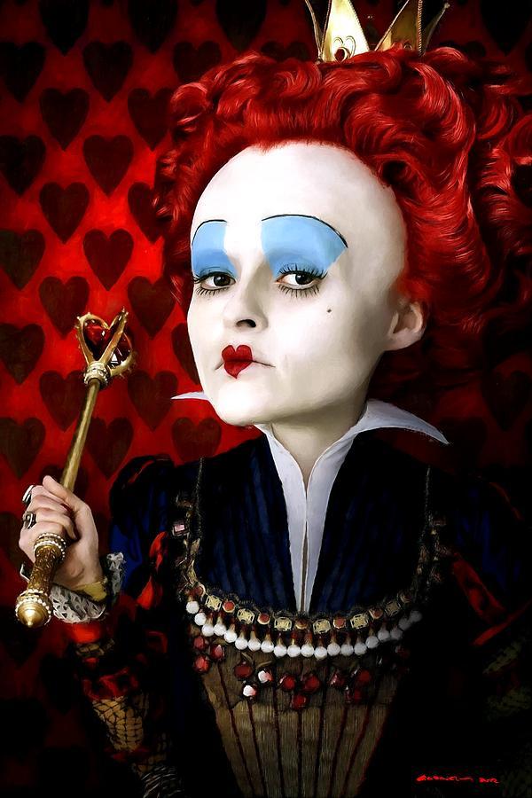 Alice In Wonderland Digital Art - Helena Bonham Carter as The Red Queen in the film Alice In Wonderland by Gabriel T Toro