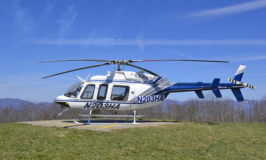 Helicopter Photograph - Helicopter On A Mountain by Susan Leggett