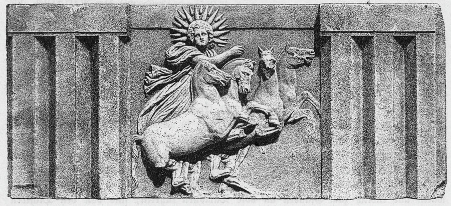 Helios The Sun God Drawing By Mary Evans Picture Library