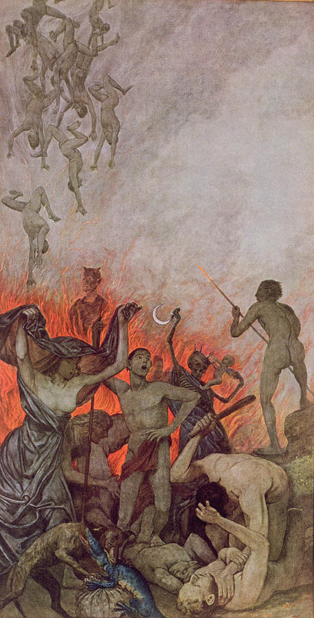 The Damned Painting - Hell by Hans Thoma