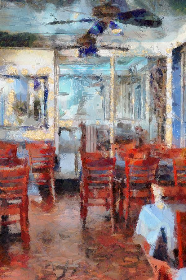 Restaurant Painting - Hellas Restaurant And Bakery  by L Wright