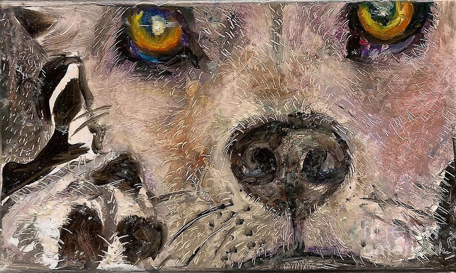 Hawaii Painting - Hello Dog by Donna Chaasadah