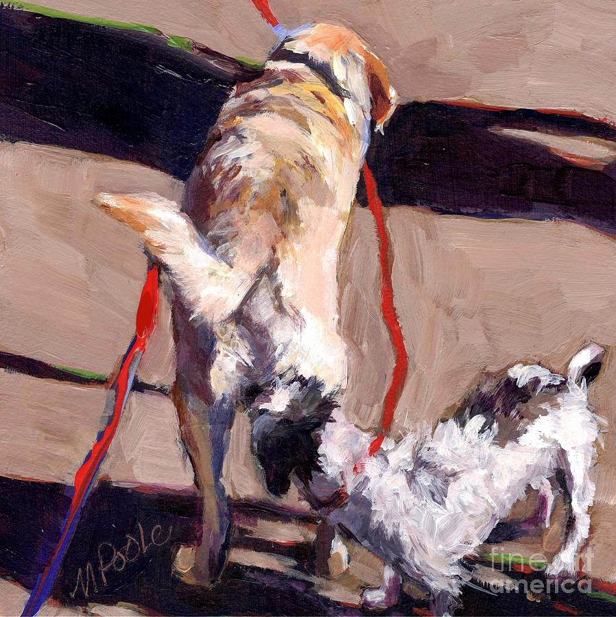 Street Dogs Painting - Hello by Molly Poole