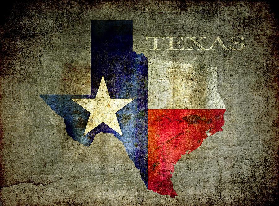 Texas Digital Art - Hello Texas by Daniel Hagerman