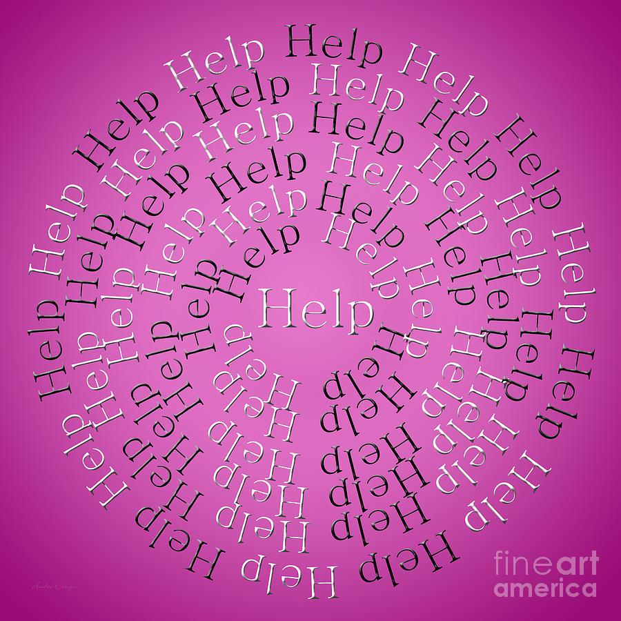 Help Digital Art - Help 3 by Andee Design
