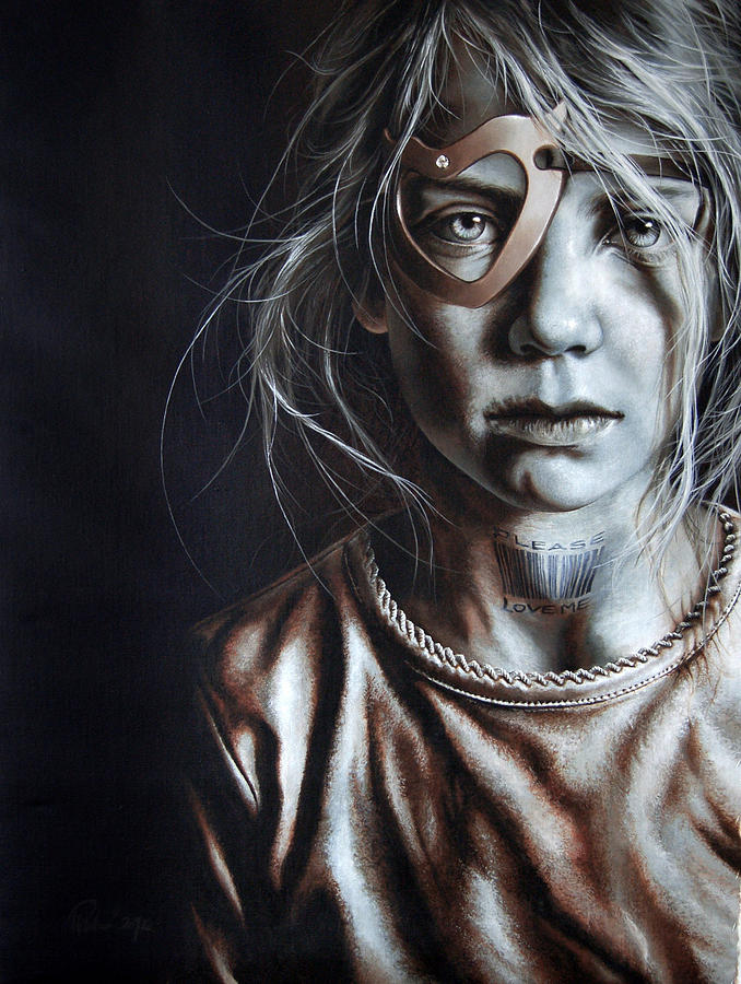 Child Painting - Helpless Cry by Mario Pichler