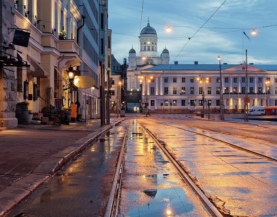 Helsinki After  Rain Photograph by Any Photo 4u