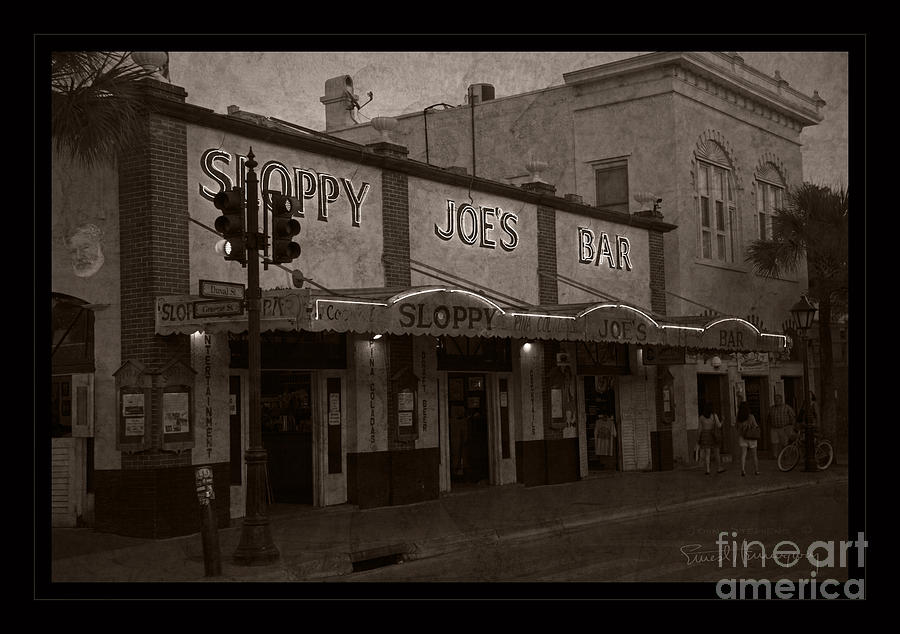 Sloppy Joes Bar Photograph - Hemingway Was Here by John Stephens
